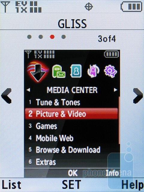 The different themes of the Samsung Alias 2 U750 - Samsung Alias 2 U750 Review