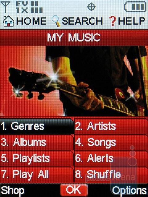 Music player - Samsung Alias 2 U750 Review