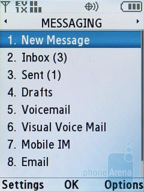 Messaging - Samsung Alias 2 U750 Review