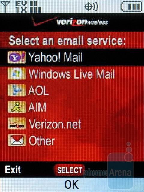 Mobile Email - Samsung Alias 2 U750 Review