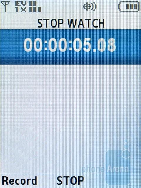 Stopwatch - Samsung Alias 2 U750 Review