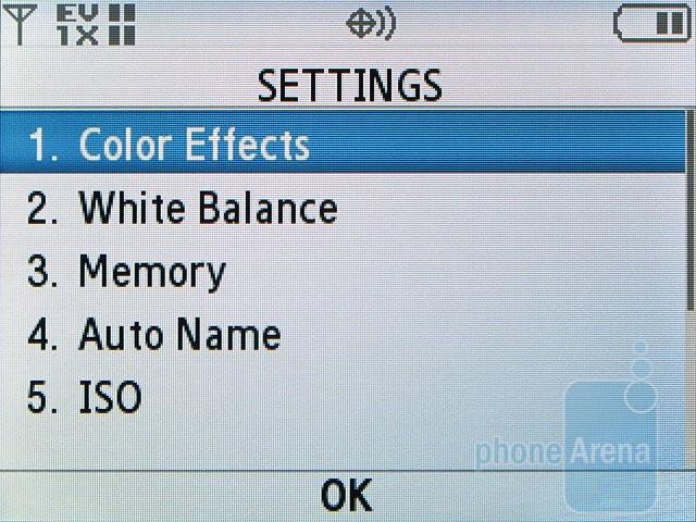 Camera interface - Samsung Alias 2 U750 Review