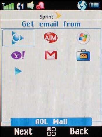 The messaging menu - Motorola Stature i9 Review