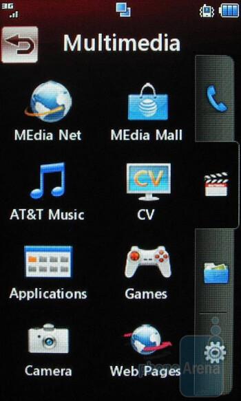 The tabbed main menu of the LG Xenon GR500 - LG Xenon GR500 Review