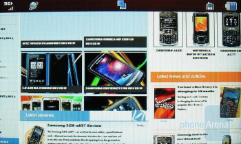 The web browser of the LG Xenon GR500 is very good - LG Xenon GR500 Review