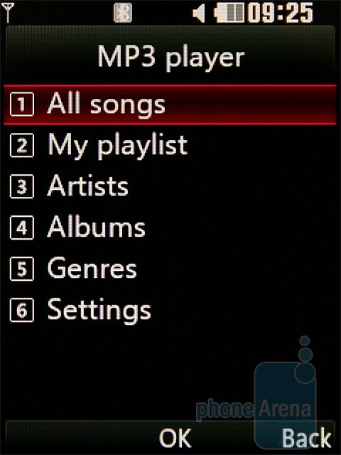 The music player of the LG KC780 - LG KC780 Review