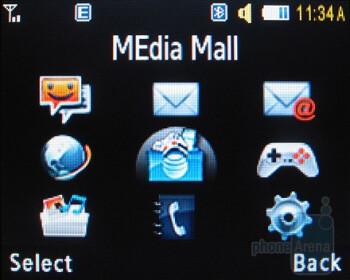 Main menu - Samsung Magnet a257 Review