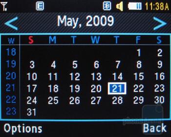 Calendar - Samsung Magnet a257 Review
