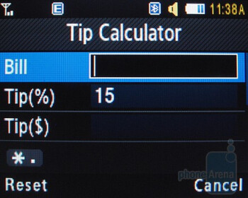 Tip Calculator - Samsung Magnet a257 Review