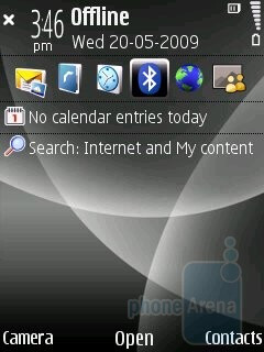 Home screen - Nokia 6220 classic Review