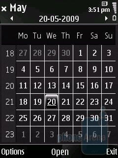 Calendar - Nokia 6220 classic Review