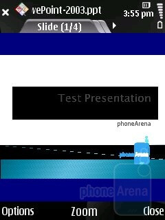 PowerPoint - Viewing office documents on the Nokia 6220 classic - Nokia 6220 classic Review