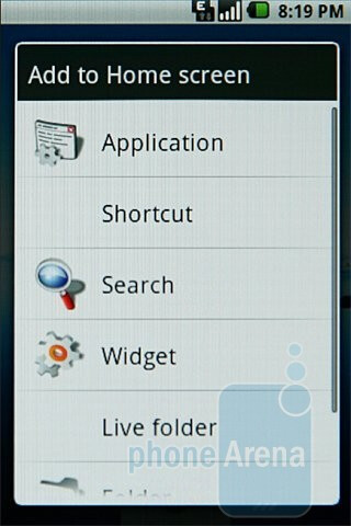 The home screen of Samsung Galaxy I7500 - Samsung Galaxy I7500 Preview