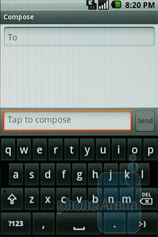 Samsung Galaxy I7500's virtual QWERTY keyboard - Samsung Galaxy I7500 Preview