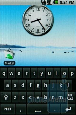 Samsung Galaxy I7500's virtual QWERTY keyboard - Samsung Galaxy I7500 Preview