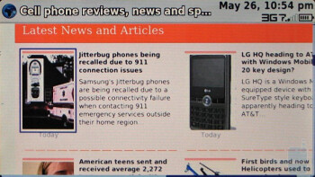 The web browser of the T-Mobile Sidekick LX does a decent job - T-Mobile Sidekick LX Review