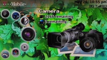 The camera menu - T-Mobile Sidekick LX Review