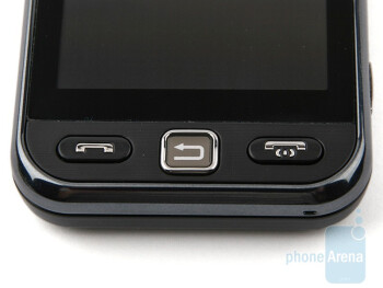 The three buttons below the screen - Samsung Star S5230 Review
