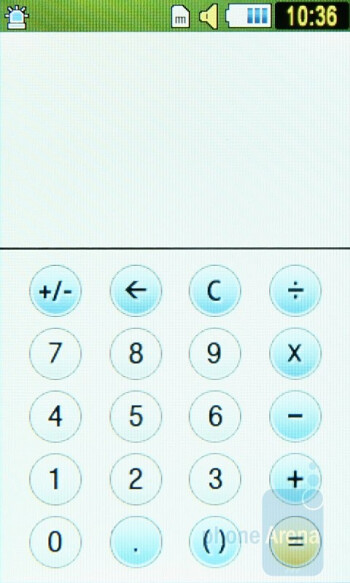 Calculator - Some of the organizer functions of Samsung Star S5230 - Samsung Star S5230 Review