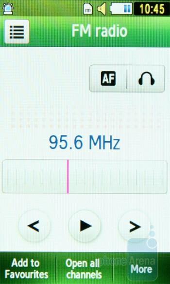 FM Radio - Samsung Star S5230 Review