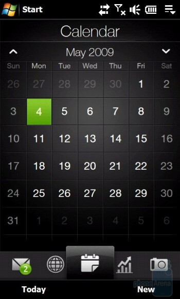 Calendar - Тhe tabs you'll find on the HTC Touch Pro2 - HTC Touch Pro2 Review
