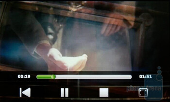 The built in video player of the HTC Touch Pro2 is very handy - HTC Touch Pro2 Review