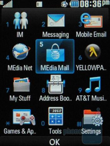Main menu - LG Neon GT365 Review