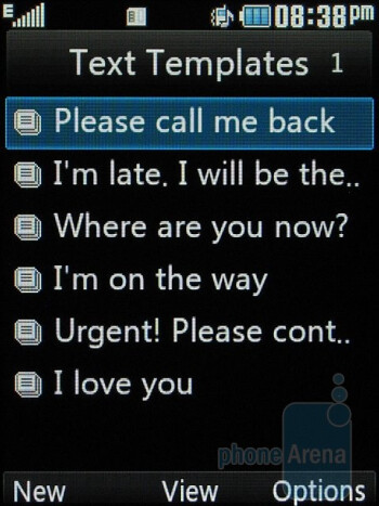 Message templates - LG Neon GT365 Review