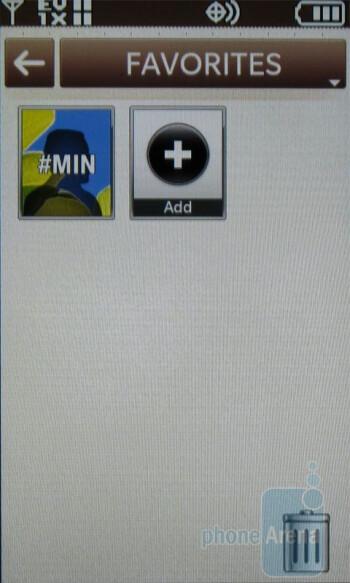 Favorites - LG enV Touch VX11000 Review