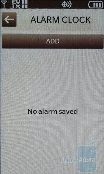 Alarms - LG enV Touch VX11000 Review