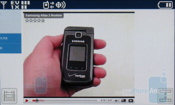 Browsing the web on the LG enV Touch VX11000 - LG enV Touch VX11000 Review