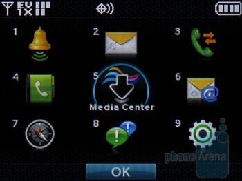 Main Menu - The home screen and main menu on the internal display - LG enV3 VX9200 Review