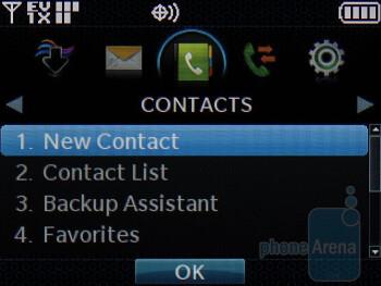 Contacts - LG enV3 VX9200 Review
