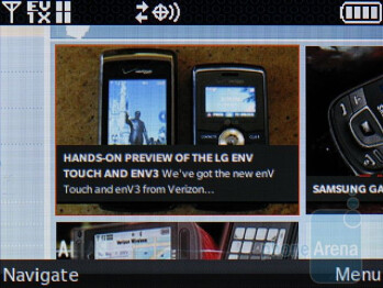 Browsing the web on the LG env3 VX9200 - LG enV3 VX9200 Review