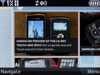 Browsing the web on the LG env3 VX9200 - LG enV3 VX9200 Review