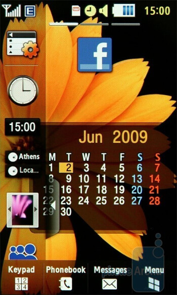 The home screen of the Samsung Jet S8000 - Samsung Jet S8000 Preview
