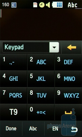 Some of the text input methods - Samsung Jet S8000 Preview