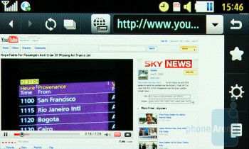 The web browser of the Samsung Jet S8000 - Samsung Jet S8000 Preview