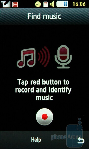 Find music - Samsung Jet S8000 Preview