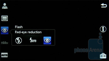 The camera interface of the Sony Ericsson Satio - Sony Ericsson Satio Preview
