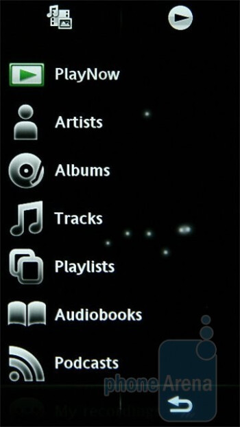 Music player - Sony Ericsson Satio Preview