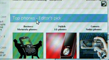 Browsing the web on the Sony Ericsson Aino - Sony Ericsson Aino Preview