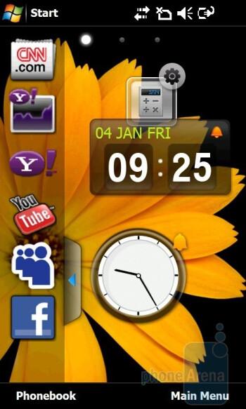 'Life' home screen - Samsung Giorgio Armani B7620 Preview