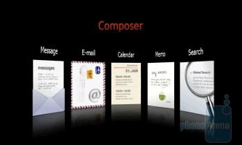 Composer menu - Samsung Giorgio Armani B7620 Preview