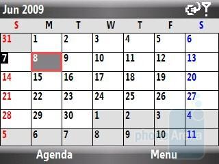 Calendar - Samsung Jack i637 Review