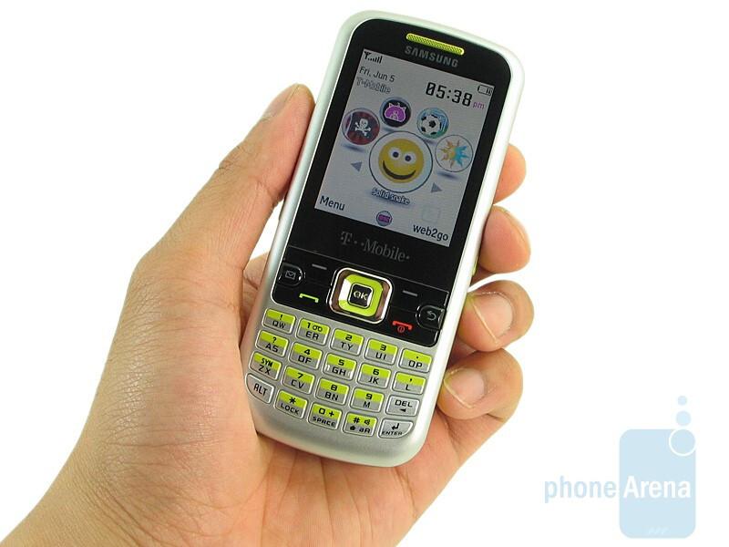 The Samsung SGH-T349 feels smooth and looks shiny - Samsung SGH-T349 Review