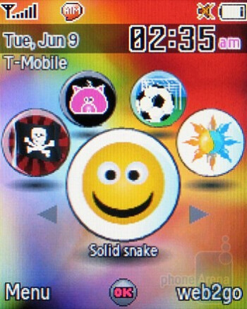 myFaves - Home screen - Samsung SGH-T349 Review