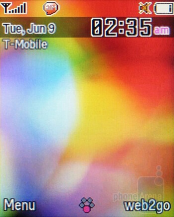 Home screen - Samsung SGH-T349 Review