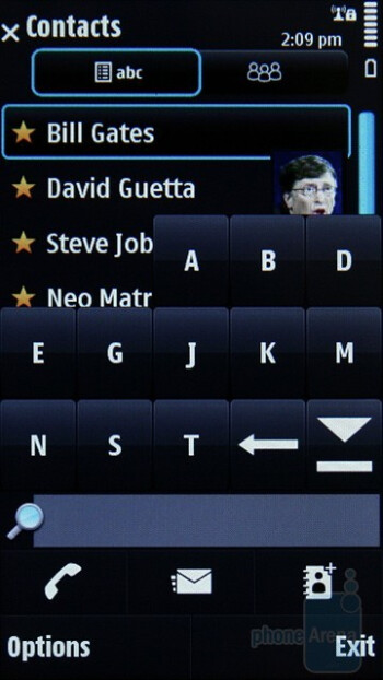 Searching for a contact - Nokia N97 Review