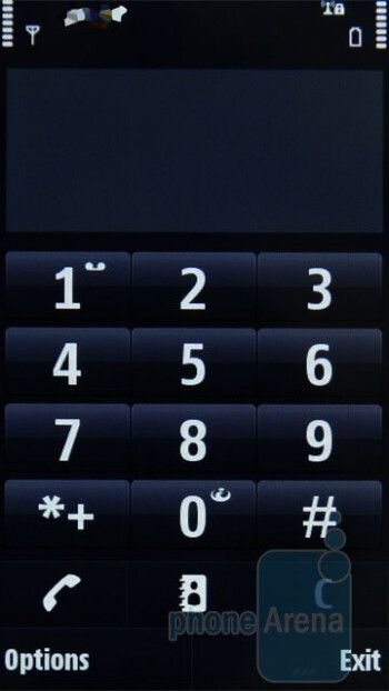 The numeric keypad - Nokia N97 Review